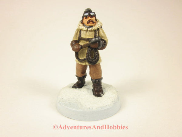 Painted miniature arctic explorer 208 for role-playing games and wargames.