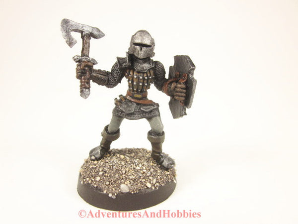 Fantasy Miniature Knight Warrior With Battleaxe 211 Painted D&D 25mm front view