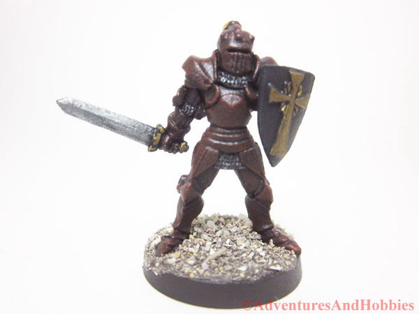 Miniature Knight with Sword 214 Painted Fantasy Figure 28mm D&D