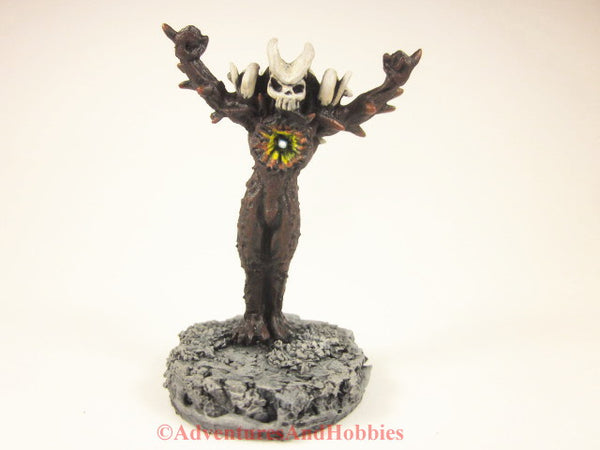 Miniature fantasy fiery demon D&D monster in 25-28mm scale.