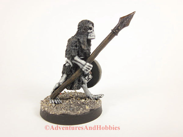 Fantasy Miniature Undead Skeleton Warrior Spear 28mm 230 D&D Painted