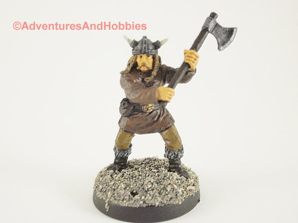 Fantasy Miniature D&D Viking Warrior Raider Battleaxe 302 Painted