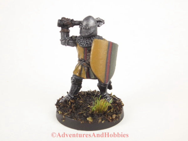 Miniature Knight Warrior with Mace 303 Painted Fantasy Figure 28mm D&D