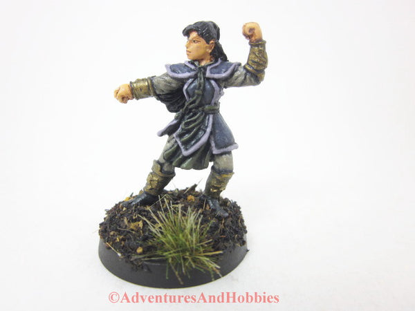 Female Monk Warrior Miniature 307 Painted Fantasy Figure 25mm D&D