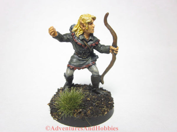 Miniature Woodland Elf Archer 311 Painted Fantasy Figure 25mm D&D