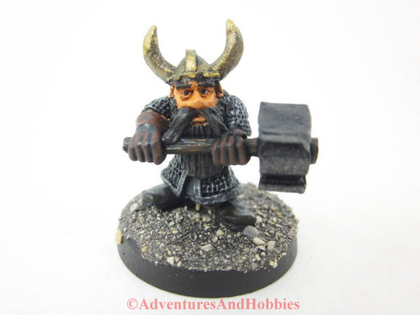 Miniature Dwarven Fighter Hammer 312 Painted Fantasy Figure 25mm D&D