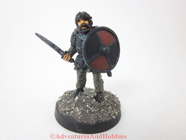 Miniature Warrior with Sword 315 Painted Fantasy Figure 28mm D&D