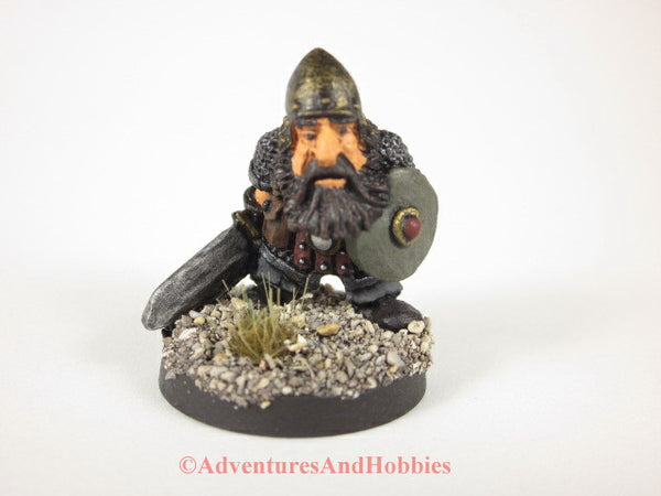 Fantasy Miniature Dwarf Sword and Shield 316 Painted Figure 28mm D&D