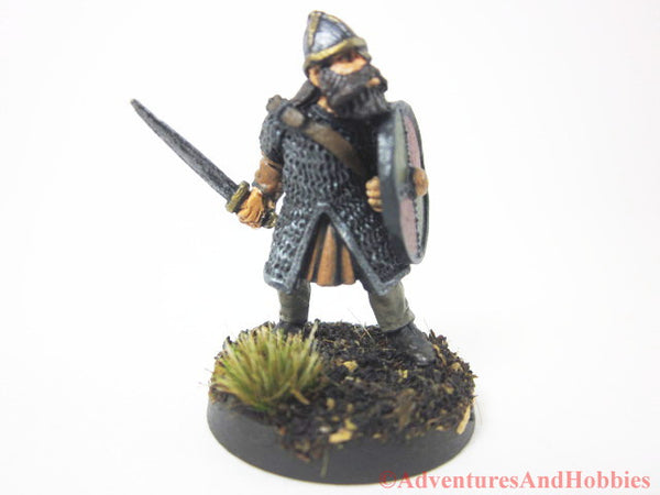 Miniature Warrior with Sword 328 Painted Fantasy Figure 28mm D&D