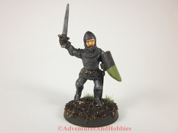 Fantasy Miniature Knight Sword and Shield 331 Painted Figure 28mm D&D