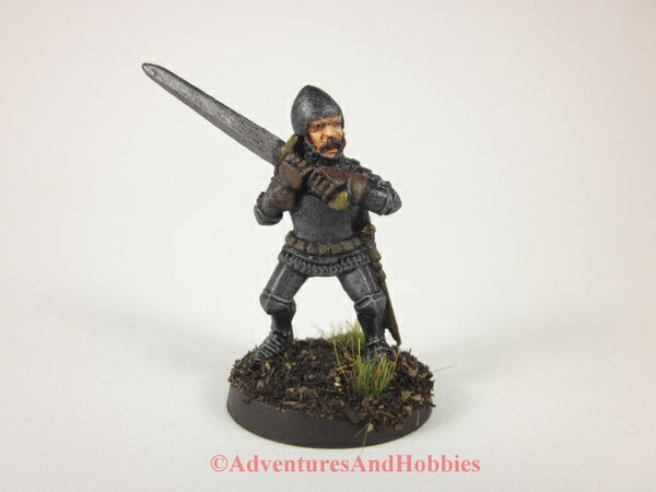 Fantasy Miniature Knight Two-Handed Sword 332 Painted Figure 28mm D&D