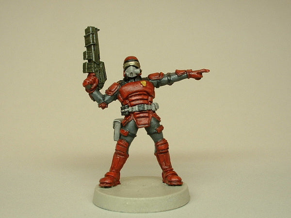Miniature Science Fiction Trooper Painted Figure Warhammer 40k 334
