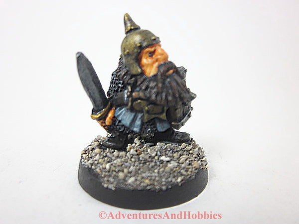 Miniature Dwarven Fighter Sword 336 Painted Fantasy Figure 28mm D&D