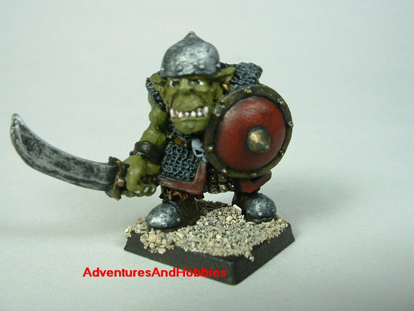 Fantasy Miniature D&D Orc Warrior Fighter 400 Painted Warhammer