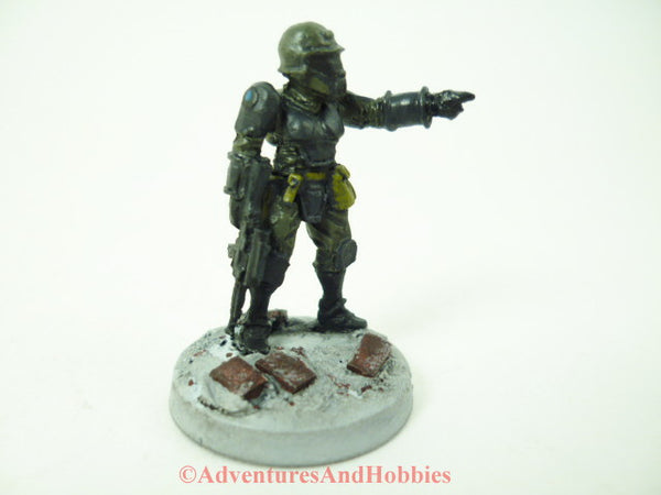 Miniature Post Apocalypse Survivor Soldier 404 Science Fiction Zombies Painted