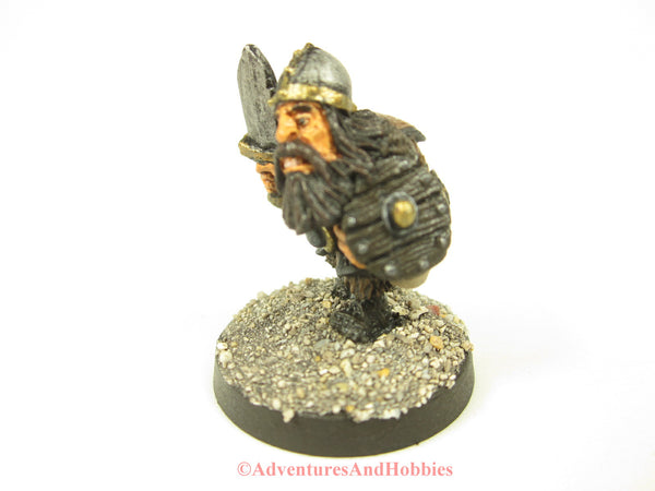 Fantasy Miniature Dwarf With Sword and Shield 406 Painted Figure 28mm D&D