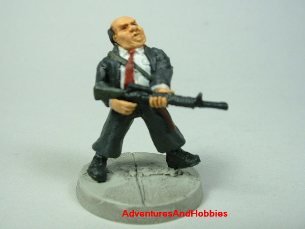 Miniature Zombie Hunter Office Worker 410 Post Apocalypse Painted