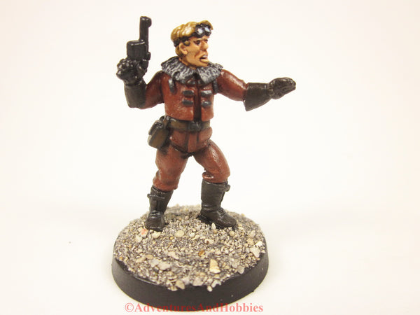 Pulp Sky Pirate Holding Machine Pistol Call of Cthulhu Painted Miniature 411 25mm