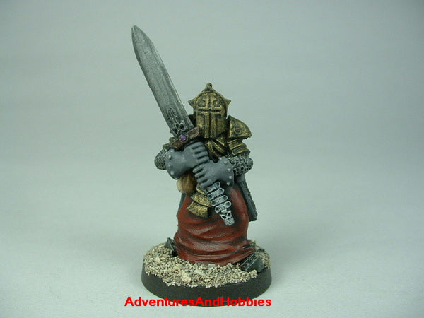 Fantasy Miniature D&D Evil Death Knight Broadsword 413 Painted