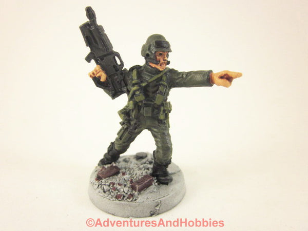 Miniature Post Apocalypse Soldier Sci Fi Trooper 414 Zombies Painted