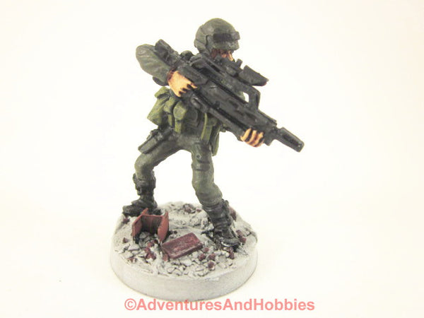 Miniature Post Apocalypse Soldier Sci Fi Trooper 415 Zombies Painted
