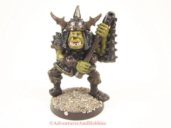 Greater Orc Warrior With Heavy Flail Miniature 420 Painted Fantasy Figure 25mm
