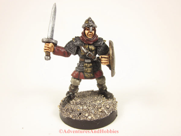 Fantasy Miniature Knight Warrior With Longsword and Shield 423 Painted D&D 25mm