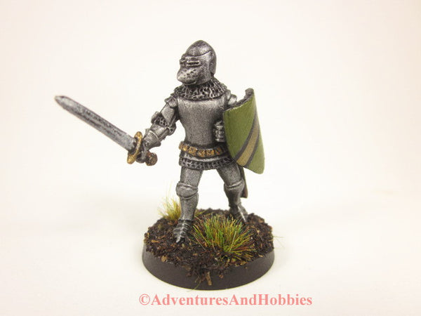 Fantasy Miniature Knight Sword and Shield 428 Painted Figure 25mm D&D