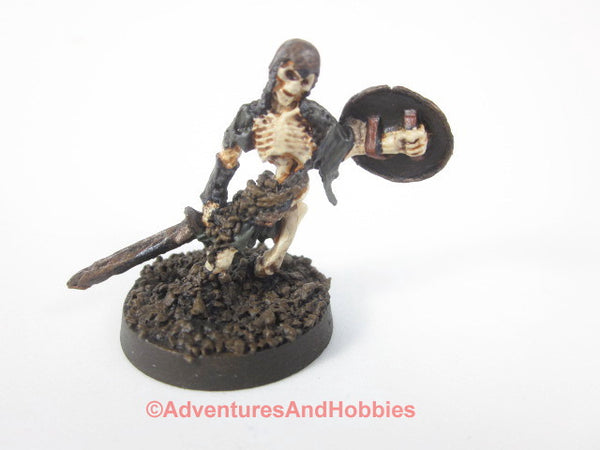 Fantasy Miniature Skeleton Warrior with Sword Rising From Ground 435 Painted