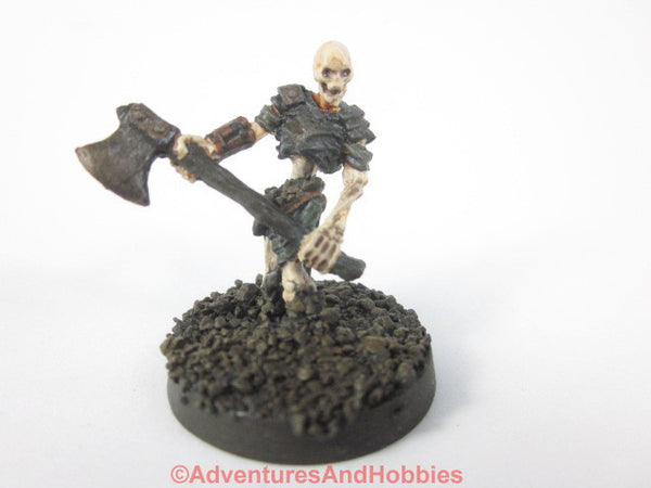 Fantasy Miniature Skeleton Warrior 2 Handed Axe Rising From Ground 436 Painted