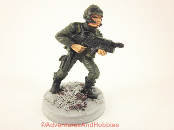 Miniature Post Apocalypse Soldier Sci Fi Trooper 441 Zombies Painted