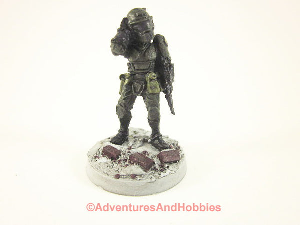 Miniature Post Apocalypse Soldier Sci Fi Trooper 451 Zombies Painted