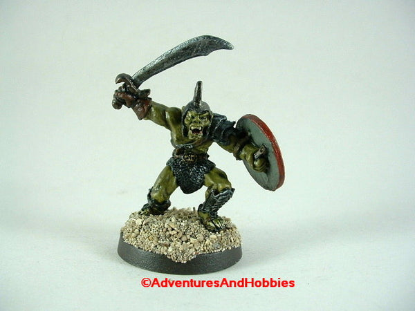 Fantasy Miniature D&D Orc Warrior Sword 473 Monster 25mm Painted
