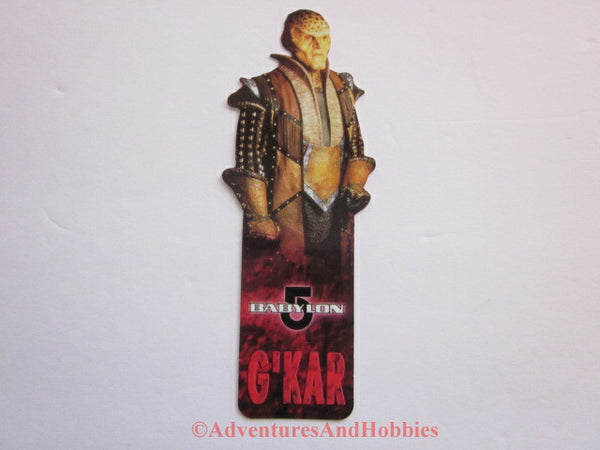 Babylon 5 Ambassador G'Kar Shaped Bookmark B5 1997 DR