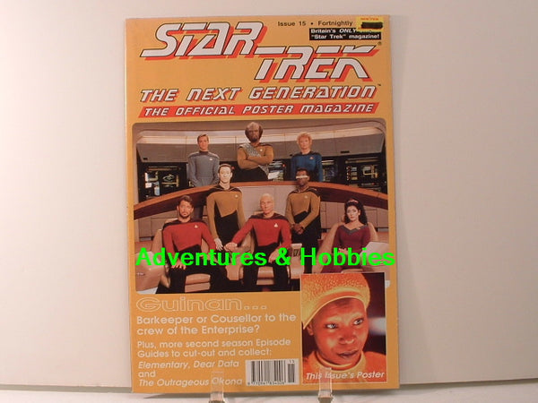 Star Trek TNG Official Poster Magazine #15 Guinan New BD