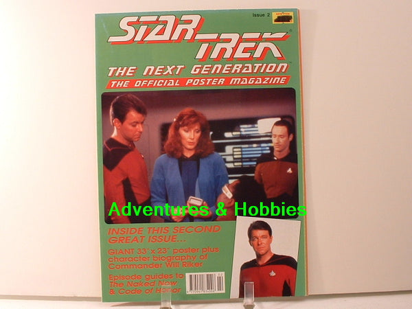 Star Trek TNG Official Poster Magazine #2 Cmdr Will Riker BD