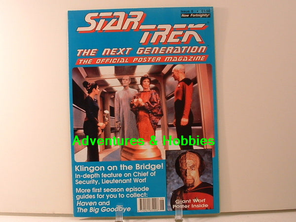 Star Trek TNG Official Poster Magazine #6 Lt Worf New BD