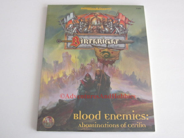 AD&D Birthright Blood Enemies Abominations of Cerilia Sealed TSR 3101