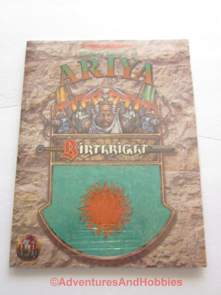 AD&D Birthright Players Secrets of Ariya Sealed Shrinkwrap TSR 3111 1995 DTgC1-D