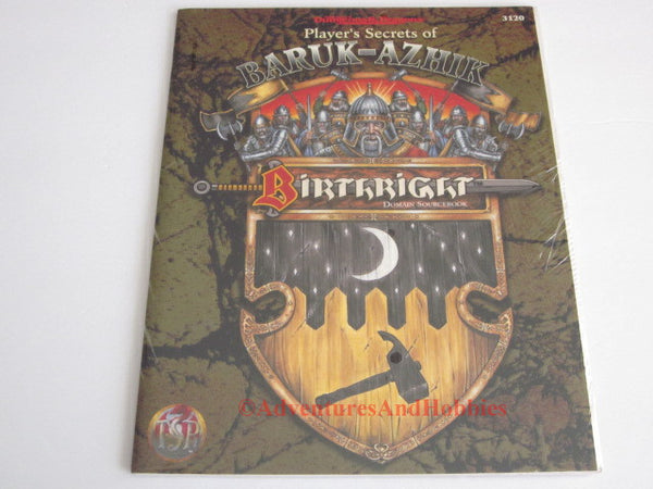 AD&D Birthright Players Secrets of Baruk-Azhik Sealed Shrinkwrap TSR 3120 1996