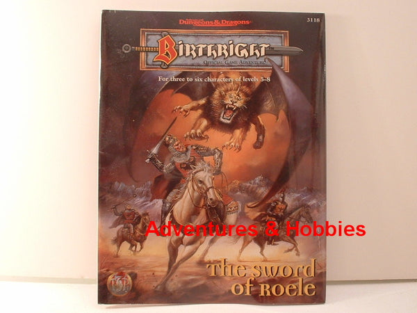AD&D Birthright Sword of Roele TSR 1996 OOP New GC