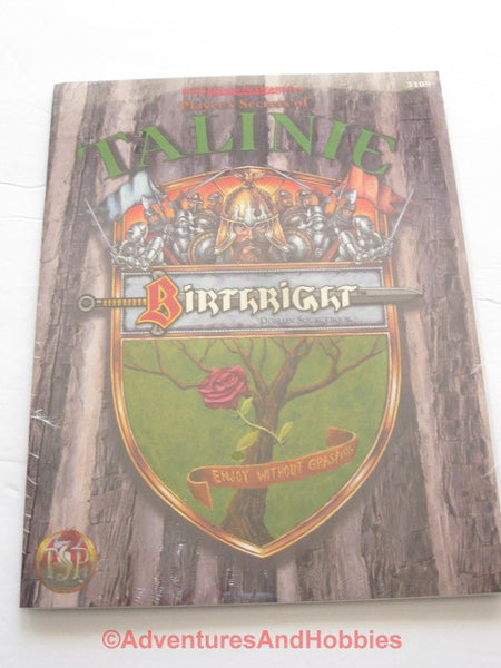 AD&D Birthright Players Secrets of Talinie Sealed Shrinkwrap TSR 3109 95 DTgC1-D