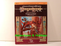AD&D DragonLance Dragons of Hope Dungeons TSR 1984 D&D