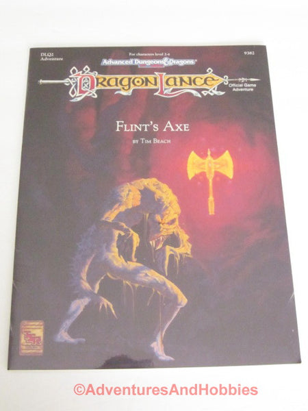 AD&D DragonLance Flint's Axe Sealed Shrinkwrap TSR 9382 1992 DTg-S D&D