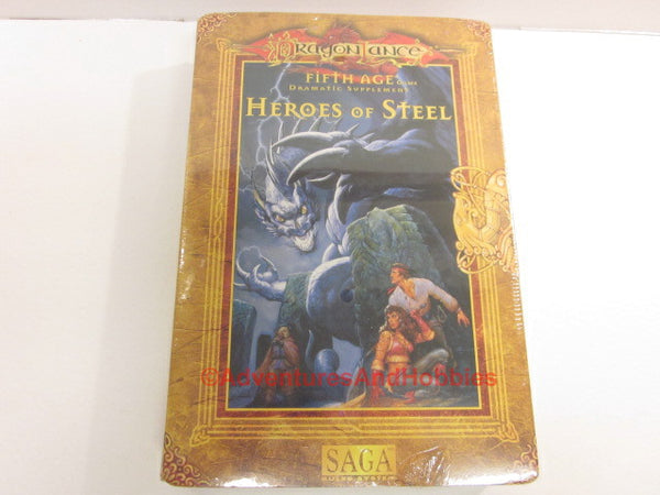 DragonLance Saga Fifth Age Heroes of Steel Box Set TSR 1150 Sealed D&D HTr-S
