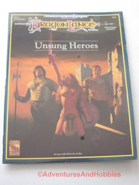 AD&D DragonLance Unsung Heroes Sealed Shrinkwrap TSR 9383 1992 DTj-D D&D