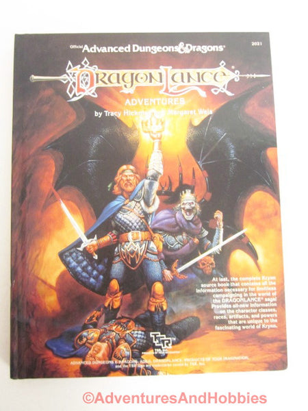 AD&D DragonLance Adventures Hardcover Reference TSR 2021 1987 DToC2