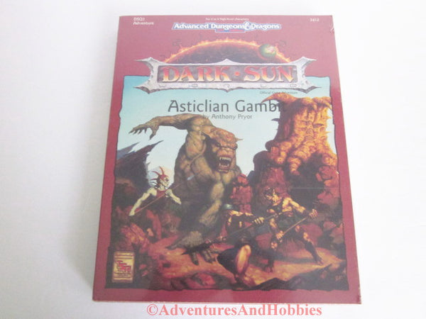 AD&D Dark Sun Asticlian Gambit Box Set TSR 2412