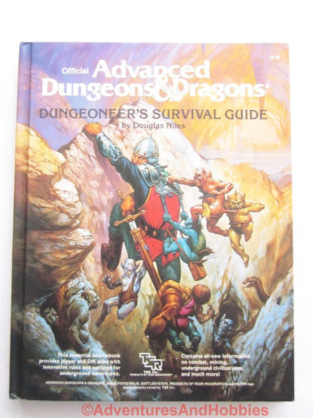 AD&D Dungeoneer's Survival Guide Hardcover TSR 2019 1986 DTo-DS D&D