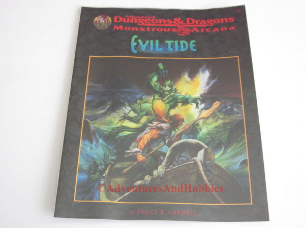 AD&D Evil Tide Monstrous Arcana Sealed Original Shrinkwrap TSR 9542 1997 Dungeons Dragons Adventure JSj